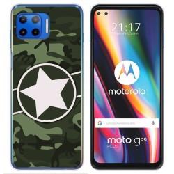 Funda Gel Tpu para Motorola Moto G 5G Plus diseño Camuflaje 01 Dibujos