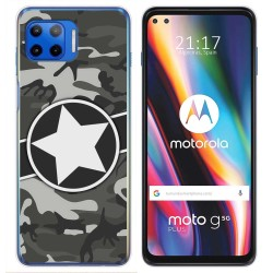 Funda Gel Tpu para Motorola Moto G 5G Plus diseño Camuflaje 02 Dibujos