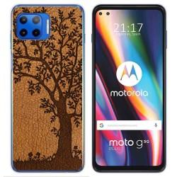 Funda Gel Tpu para Motorola Moto G 5G Plus diseño Cuero 03 Dibujos