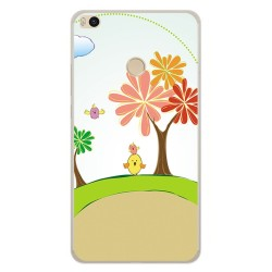 Funda Gel Tpu para Xiaomi Mi Max 2 Diseño Primavera Dibujos