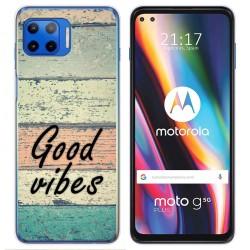 Funda Gel Tpu para Motorola Moto G 5G Plus diseño Madera 01 Dibujos