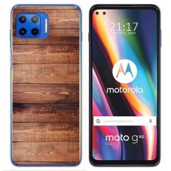 Funda Gel Tpu para Motorola Moto G 5G Plus diseño Madera 02 Dibujos