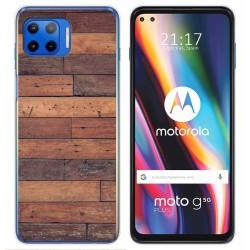 Funda Gel Tpu para Motorola Moto G 5G Plus diseño Madera 03 Dibujos