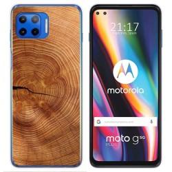 Funda Gel Tpu para Motorola Moto G 5G Plus diseño Madera 04 Dibujos