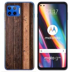 Funda Gel Tpu para Motorola Moto G 5G Plus diseño Madera 05 Dibujos