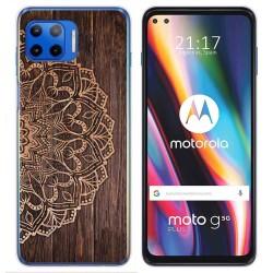 Funda Gel Tpu para Motorola Moto G 5G Plus diseño Madera 06 Dibujos