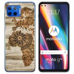 Funda Gel Tpu para Motorola Moto G 5G Plus diseño Madera 07 Dibujos