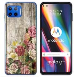 Funda Gel Tpu para Motorola Moto G 5G Plus diseño Madera 08 Dibujos