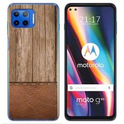 Funda Gel Tpu para Motorola Moto G 5G Plus diseño Madera 09 Dibujos