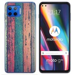 Funda Gel Tpu para Motorola Moto G 5G Plus diseño Madera 10 Dibujos