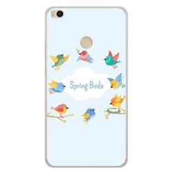 Funda Gel Tpu para Xiaomi Mi Max 2 Diseño Spring Birds Dibujos