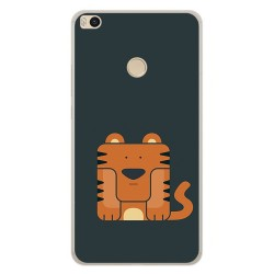 Funda Gel Tpu para Xiaomi Mi Max 2 Diseño Tigre Dibujos