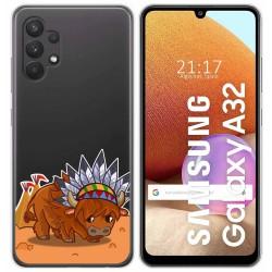 Funda Gel Transparente para Samsung Galaxy A32 4G diseño Bufalo Dibujos