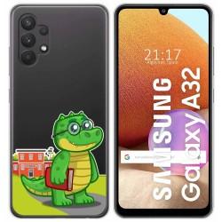 Funda Gel Transparente para Samsung Galaxy A32 4G diseño Coco Dibujos