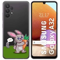 Funda Gel Transparente para Samsung Galaxy A32 4G diseño Conejo Dibujos