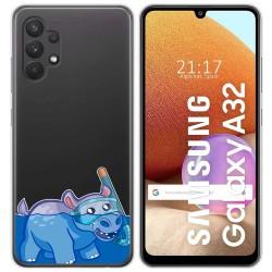 Funda Gel Transparente para Samsung Galaxy A32 4G diseño Hipo Dibujos