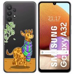 Funda Gel Transparente para Samsung Galaxy A32 4G diseño Jirafa Dibujos