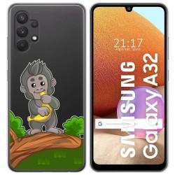 Funda Gel Transparente para Samsung Galaxy A32 4G diseño Mono Dibujos