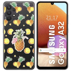 Funda Gel Transparente para Samsung Galaxy A32 4G diseño Piña Dibujos