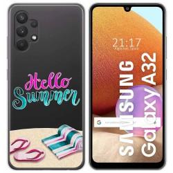 Funda Gel Transparente para Samsung Galaxy A32 4G diseño Summer Dibujos