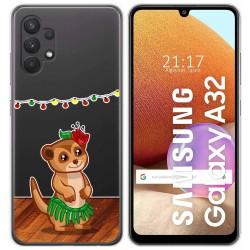 Funda Gel Transparente para Samsung Galaxy A32 4G diseño Suricata Dibujos