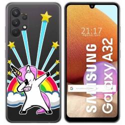 Funda Gel Transparente para Samsung Galaxy A32 4G diseño Unicornio Dibujos
