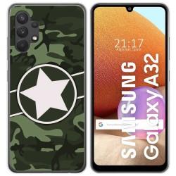 Funda Gel Tpu para Samsung Galaxy A32 4G diseño Camuflaje 01 Dibujos