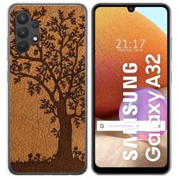 Funda Gel Tpu para Samsung Galaxy A32 4G diseño Cuero 03 Dibujos