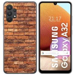 Funda Gel Tpu para Samsung Galaxy A32 4G diseño Ladrillo 04 Dibujos