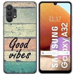 Funda Gel Tpu para Samsung Galaxy A32 4G diseño Madera 01 Dibujos