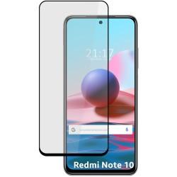 Protector Cristal Templado Completo 5D Full Glue Negro para Xiaomi Redmi Note 10