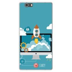 Funda Gel Tpu para Elephone M2 Diseño Cohete Dibujos