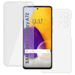 Funda Completa Transparente Pc + Tpu Full Body 360 para Samsung Galaxy A72