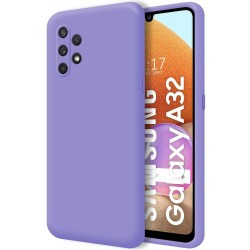 Funda Silicona Líquida Ultra Suave para Samsung Galaxy A32 4G color Morada