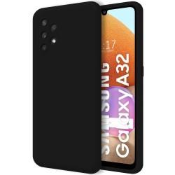Funda Silicona Líquida Ultra Suave para Samsung Galaxy A32 4G color Negra