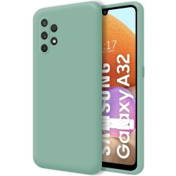 Funda Silicona Líquida Ultra Suave para Samsung Galaxy A32 4G color Verde