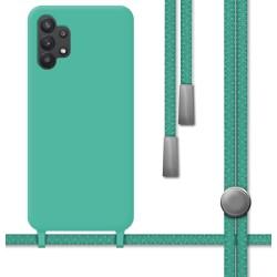 Funda Silicona Líquida con Cordón para Samsung Galaxy A32 5G Color Verde