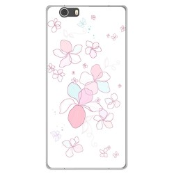 Funda Gel Tpu para Elephone M2 Diseño Flores Minimal Dibujos