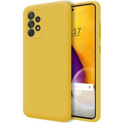 Funda Silicona Líquida Ultra Suave para Samsung Galaxy A72 Color Amarilla
