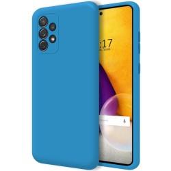 Funda Silicona Líquida Ultra Suave para Samsung Galaxy A72 Color Azul