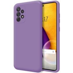 Funda Silicona Líquida Ultra Suave para Samsung Galaxy A72 Color Morada