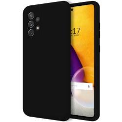 Funda Silicona Líquida Ultra Suave para Samsung Galaxy A72 Color Negra
