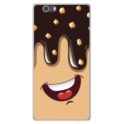 Funda Gel Tpu para Elephone M2 Diseño Helado Chocolate Dibujos