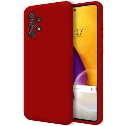 Funda Silicona Líquida Ultra Suave para Samsung Galaxy A72 Color Roja