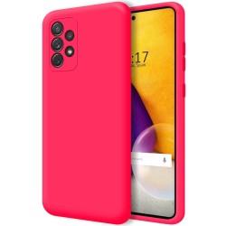 Funda Silicona Líquida Ultra Suave para Samsung Galaxy A72 Color Rosa Fucsia