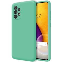 Funda Silicona Líquida Ultra Suave para Samsung Galaxy A72 Color Verde