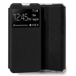 Funda Libro Soporte con Ventana para Samsung Galaxy A72 color Negra