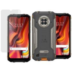 Pack 2 En 1 Funda Gel Transparente + Protector Cristal Templado para Doogee S96 Pro