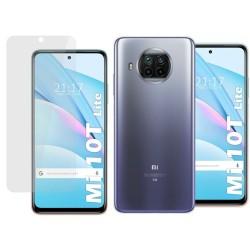 Pack 2 En 1 Funda Gel Transparente + Protector Cristal Templado para Xiaomi Mi 10T Lite