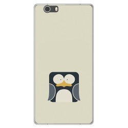 Funda Gel Tpu para Elephone M2 Diseño Pingüino Dibujos